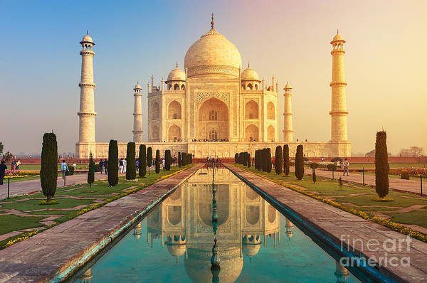 The Taj Mahal Is An Ivory-white Marble Poster