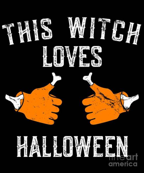 This Witch Loves Halloween Poster
