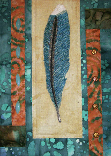 Threaded Feather Poster