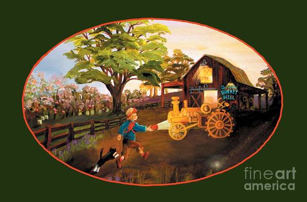 Tractor And Barn Poster