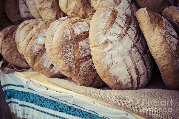Traditional Bread In Polish Food Market Poster