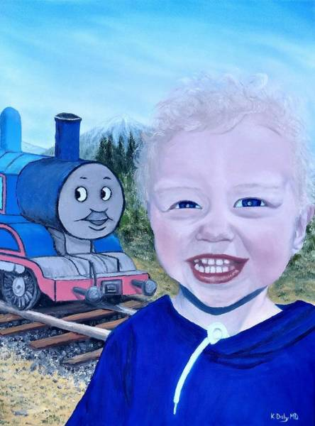 Poster featuring the painting Train by Kevin Daly