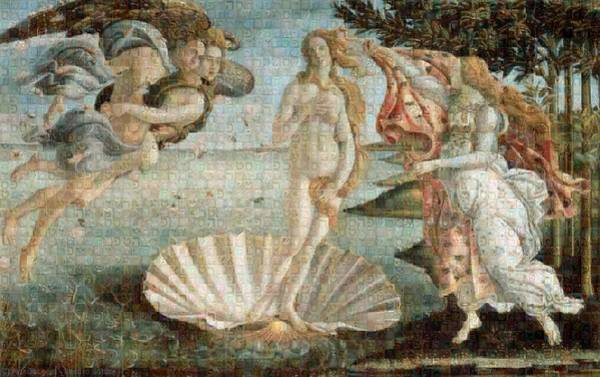 Tribute To Botticelli Poster