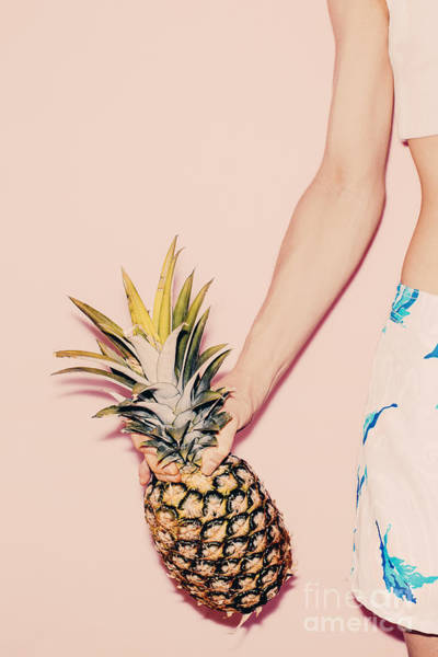 Tropical Summer. Fashion Girl With Poster