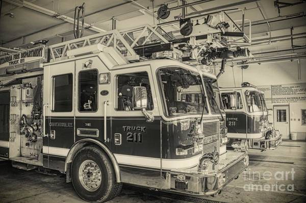Truck And Engine 211 Poster