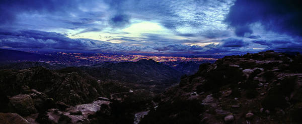 Poster featuring the photograph Tucson Twilight Panorama by Chance Kafka