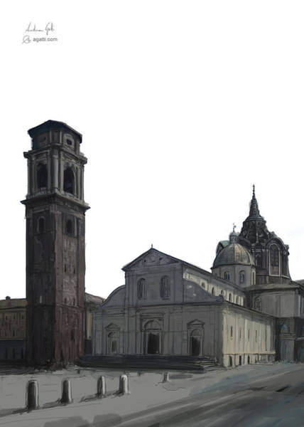 Turin Cathedral Digital1 Poster