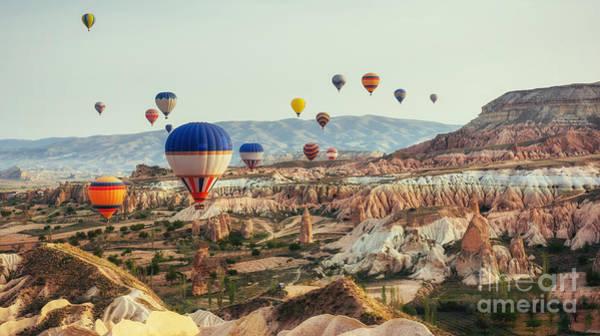 Turkey Cappadocia Beautiful Balloons Poster