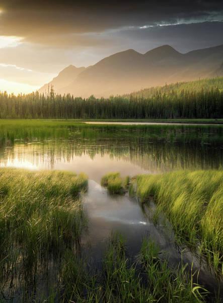 Upper Whitefish Golden Light / Whitefish, Montana  Poster