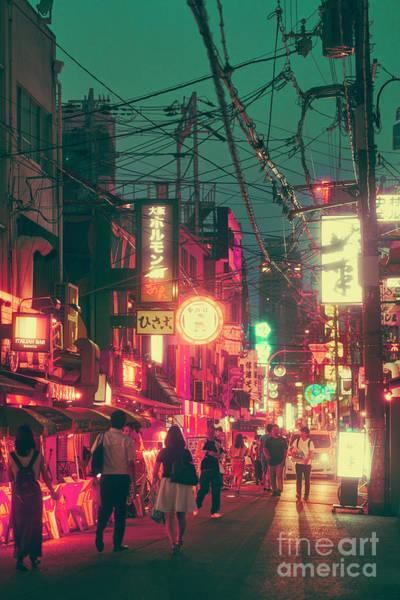 Ura Namba Street Nightlife Osaka Japan Poster