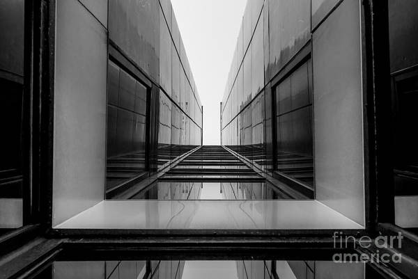 Urban Geometry, Looking Up To Glass Poster