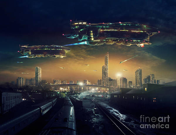 Urban Landscape Of Post Apocalyptic Poster
