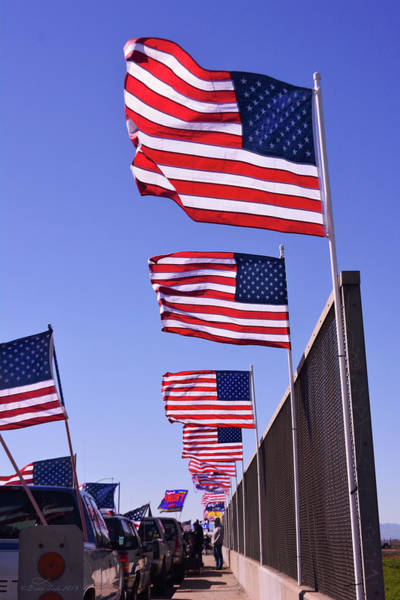 U.s. Flags, Presidents Day, Central Valley, California Poster