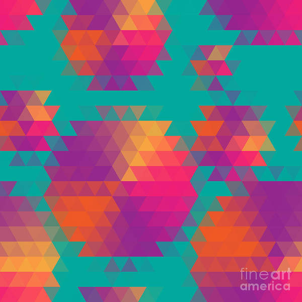 Vector Abstract Seamless Pattern With Poster