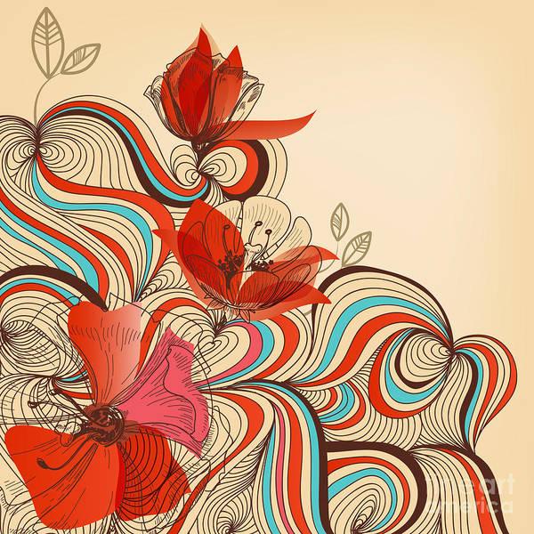 Vector Floral Background Poster
