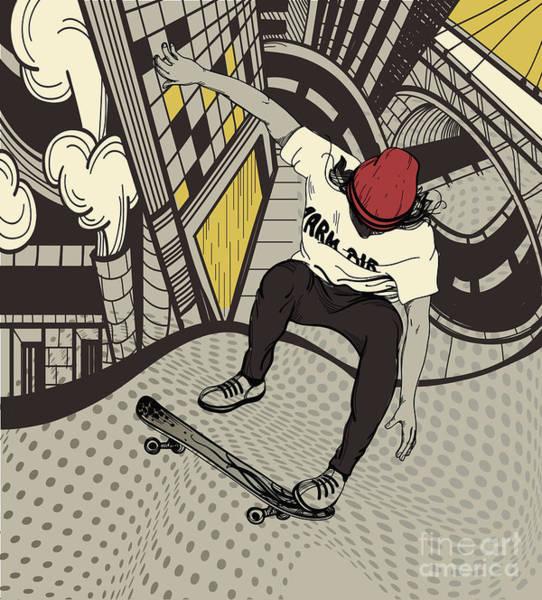 Vector Illustration Of An Urban Boy Poster