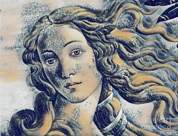 Venus Botticelli - The Great Wave Poster