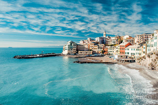 View Of Bogliasco. Bogliasco Is A Poster
