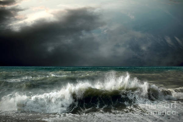 View Of Storm Seascape Poster
