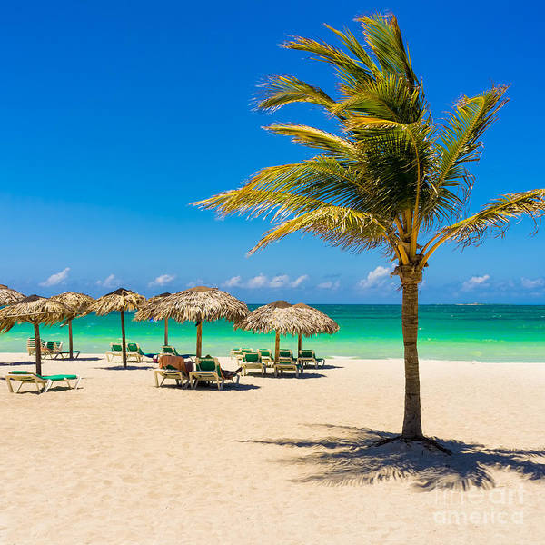 View Of Varadero Beach In Cuba With A Poster