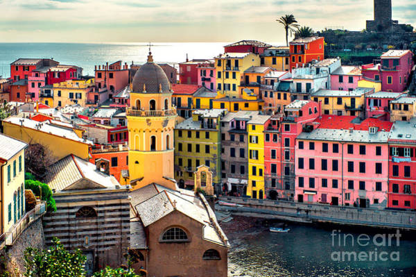 View Of Vernazza. Vernazza Is A Town Poster