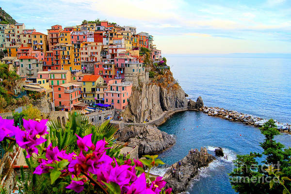 Village Of Manarola, On The Cinque Poster