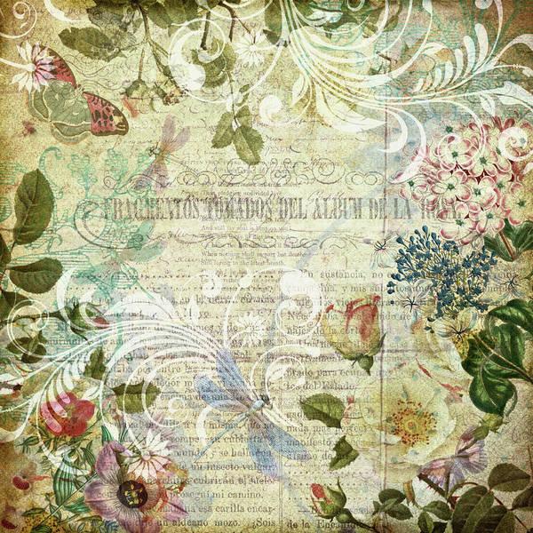 Vintage Botanical Illustration Collage Poster