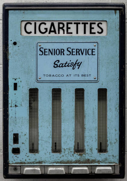 Senior Service Vintage Cigarette Vending Machine Poster