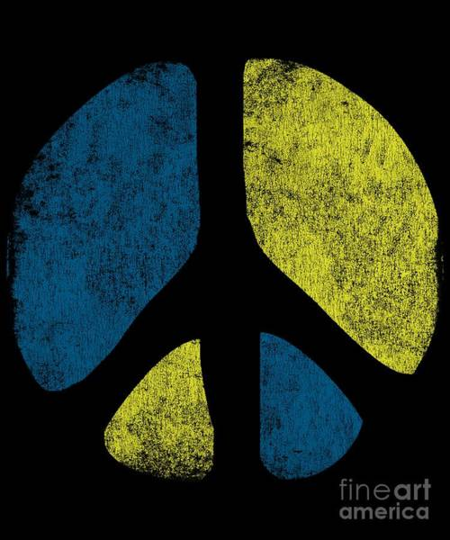 Poster featuring the digital art Vintage Peace Sign by Flippin Sweet Gear