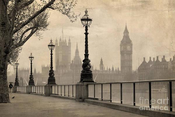 Vintage View Of London,  Big Ben & Poster