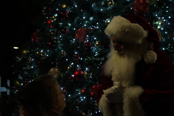 Visit With Santa Poster