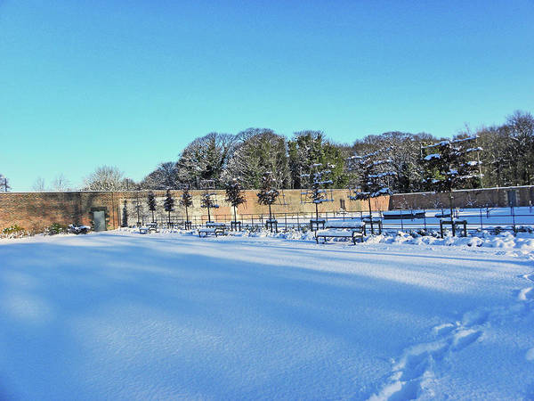 Walled Garden In The Snow Poster