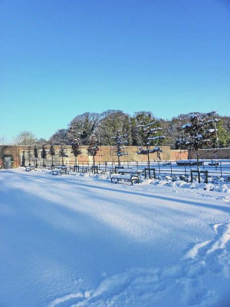 Walled Garden Winter Landscape Poster