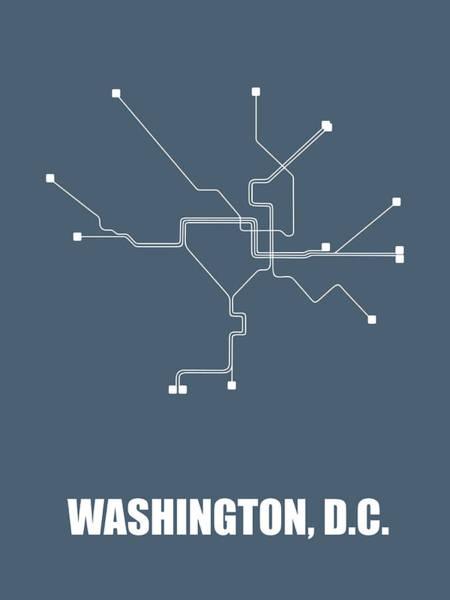Washington, D.c Subway Map Poster