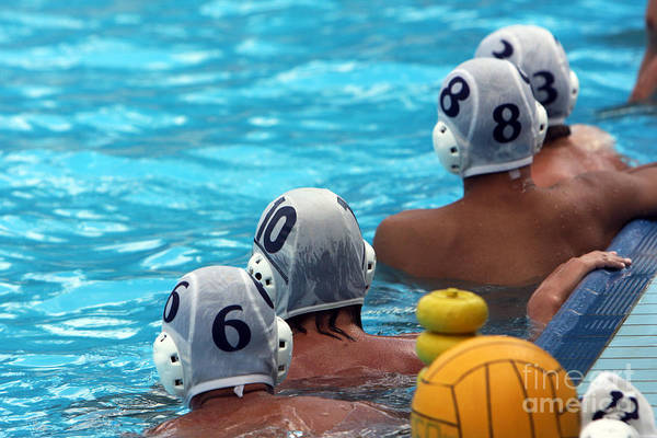 Water Polo Players Resting In A Poster