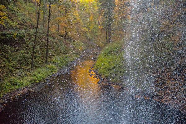 Waterfall Waterdrops Poster