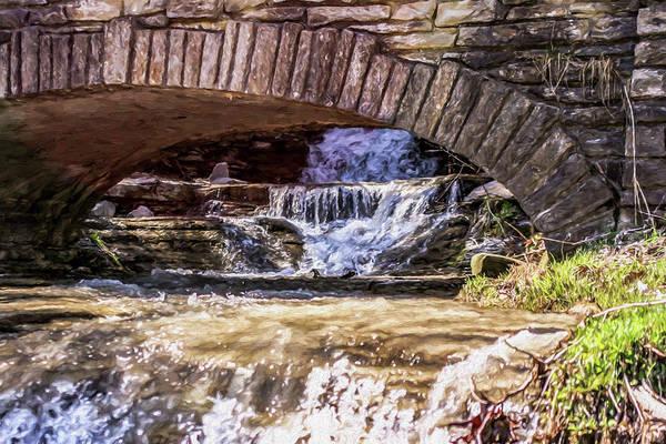 Waterfalls Through Stone Bridge Poster