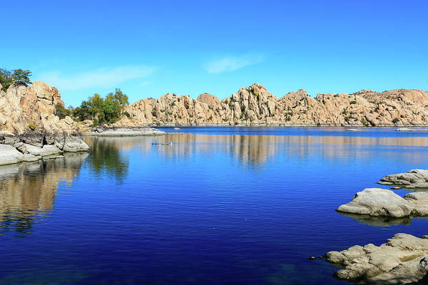 Watson Lake And Rock Formations Poster