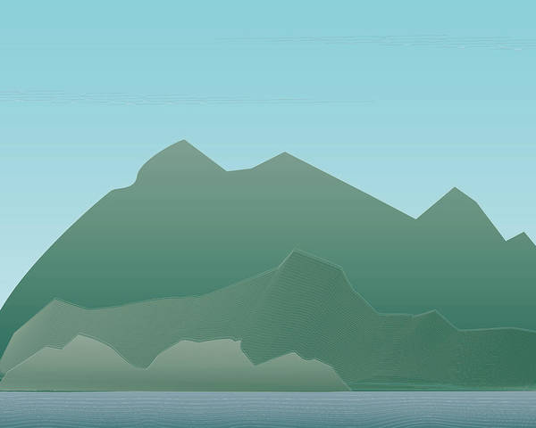 Wave Mountain Poster