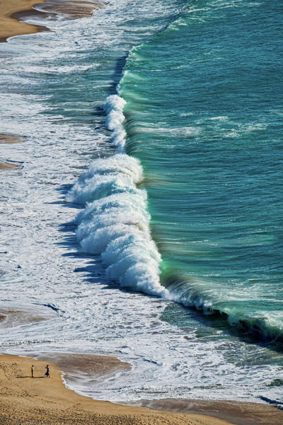 Waves At Nazare Beach - Portugal Poster
