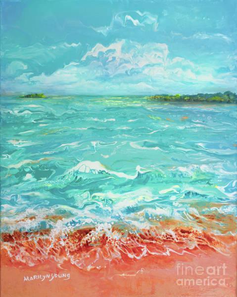 Waves At Sombrero Beach Poster