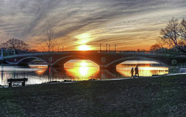 Poster featuring the photograph Weeks Bridge At Sunset by Wayne Marshall Chase