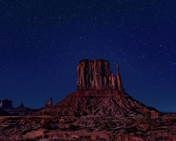 West Mitten Under The Night Sky Poster