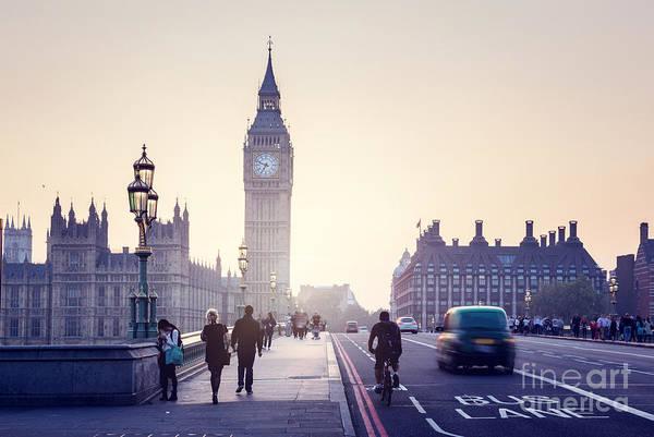 Westminster Bridge At Sunset, London, Uk Poster