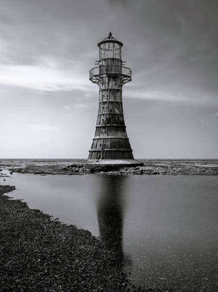 Whiteford Point Lighthouse Reflections Poster