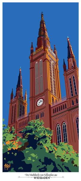 Wiesbaden Marktkirche  Poster