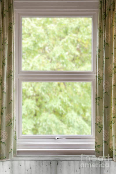 Window With Curtains Poster
