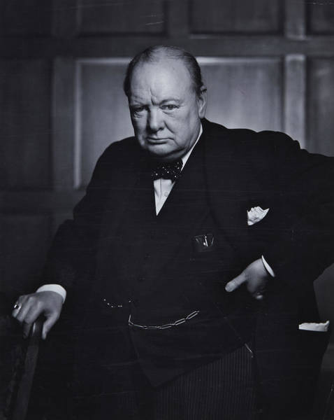 Winston Churchill In The Canadian Parliament Poster