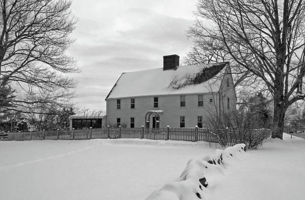 Poster featuring the photograph Winter At Noyes House by Wayne Marshall Chase