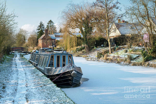 Winter Canal Poster
